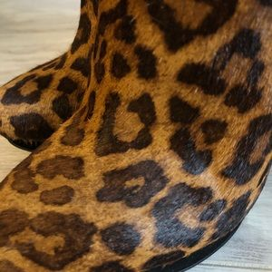 The Wishbone Collection Shoes - Wishbone Leopard Pony/Kid Suede Booties